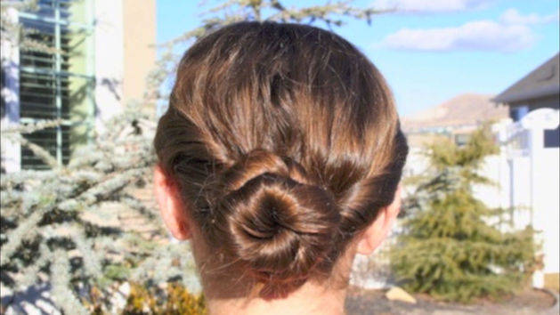 Sporty and Fun Double Twist-Around Bun