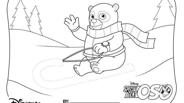 Col special agent oso page coloring pages for Oso coloring pages