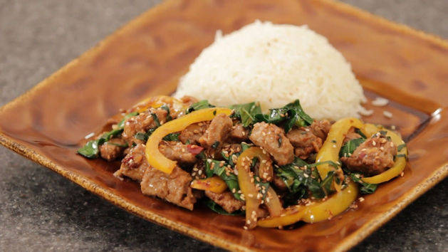 Pork and Collard Greens Stir-Fry - Dollar Meals