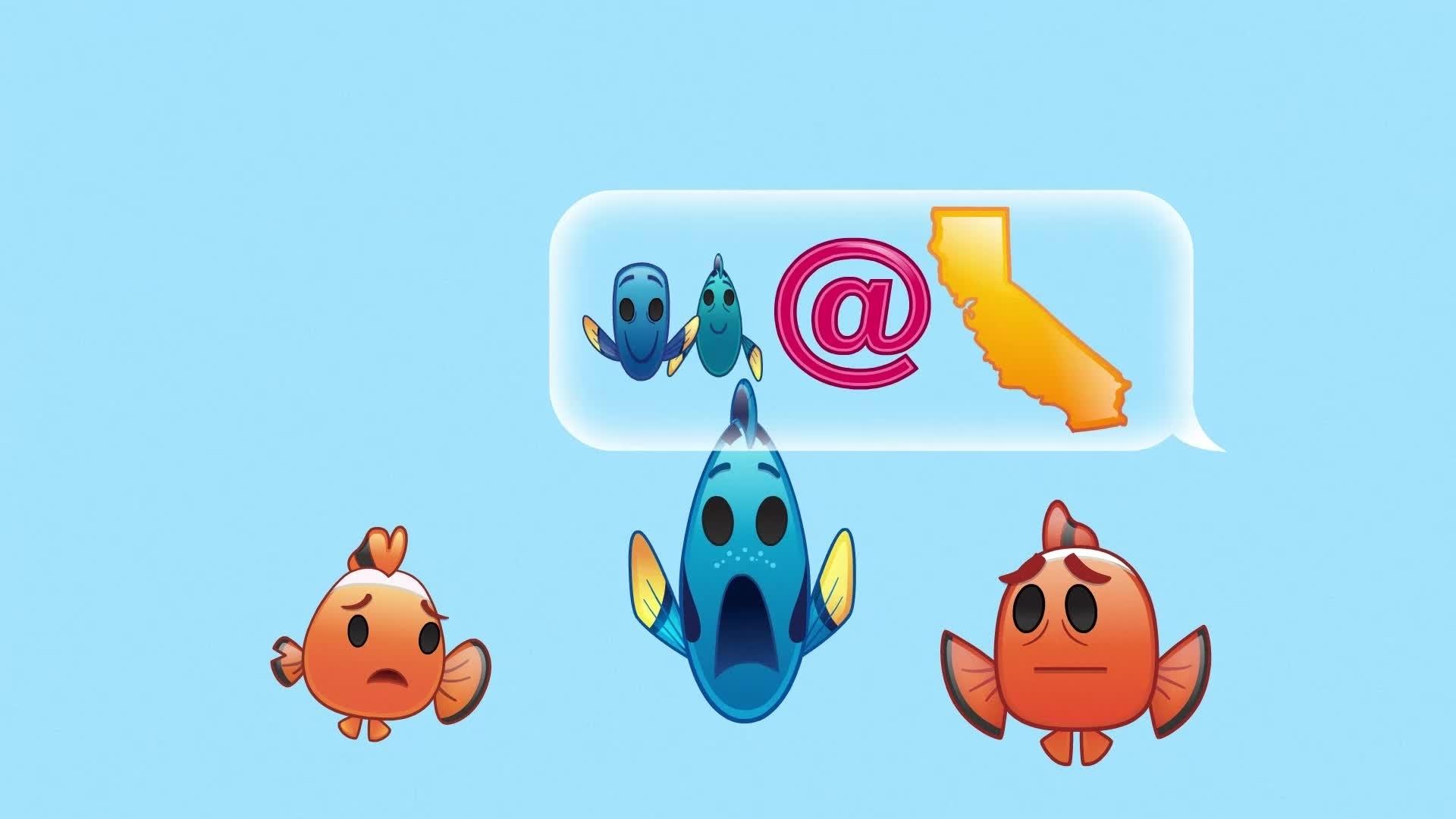 À Procura de Dory contado por Emoji