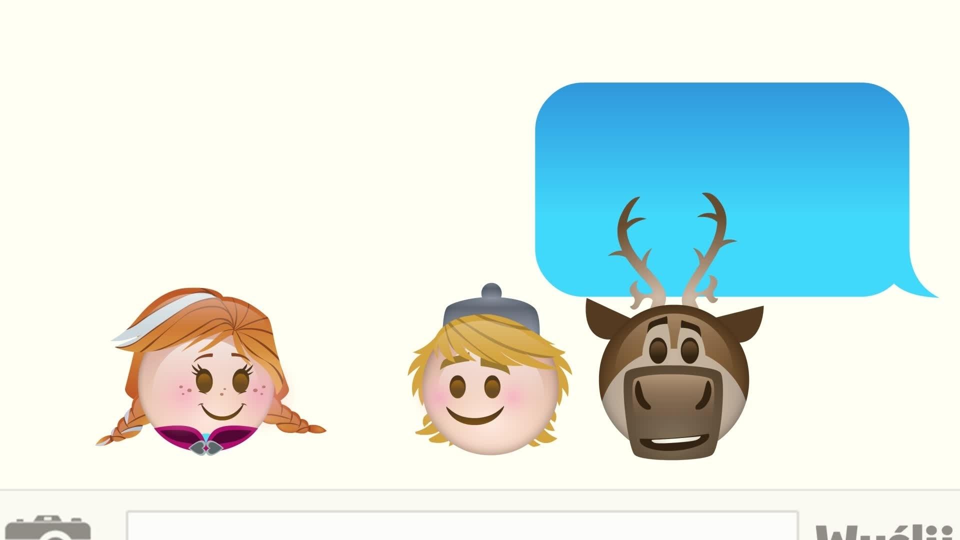 Kraina lodu w wersji emoji