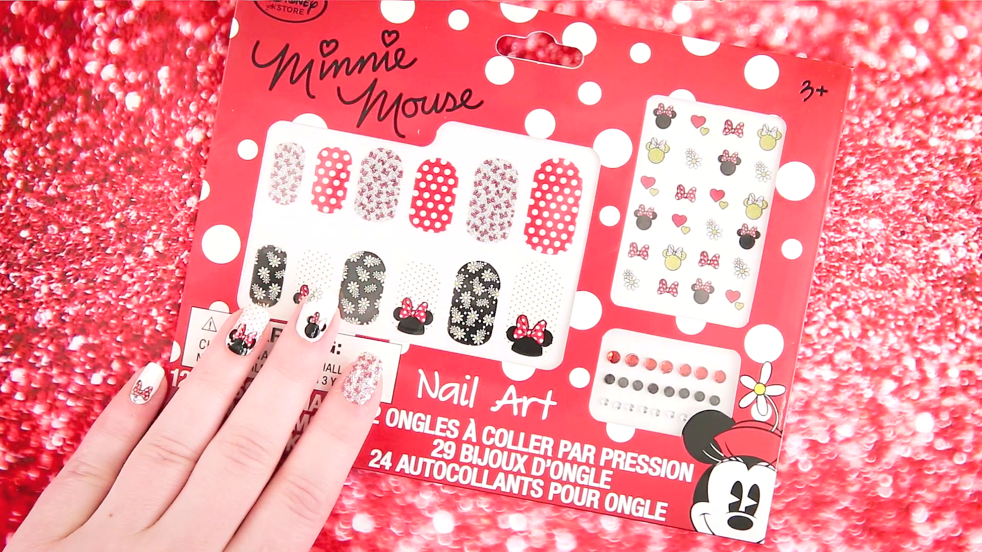 How to Create Minnie Mouse Nail Art