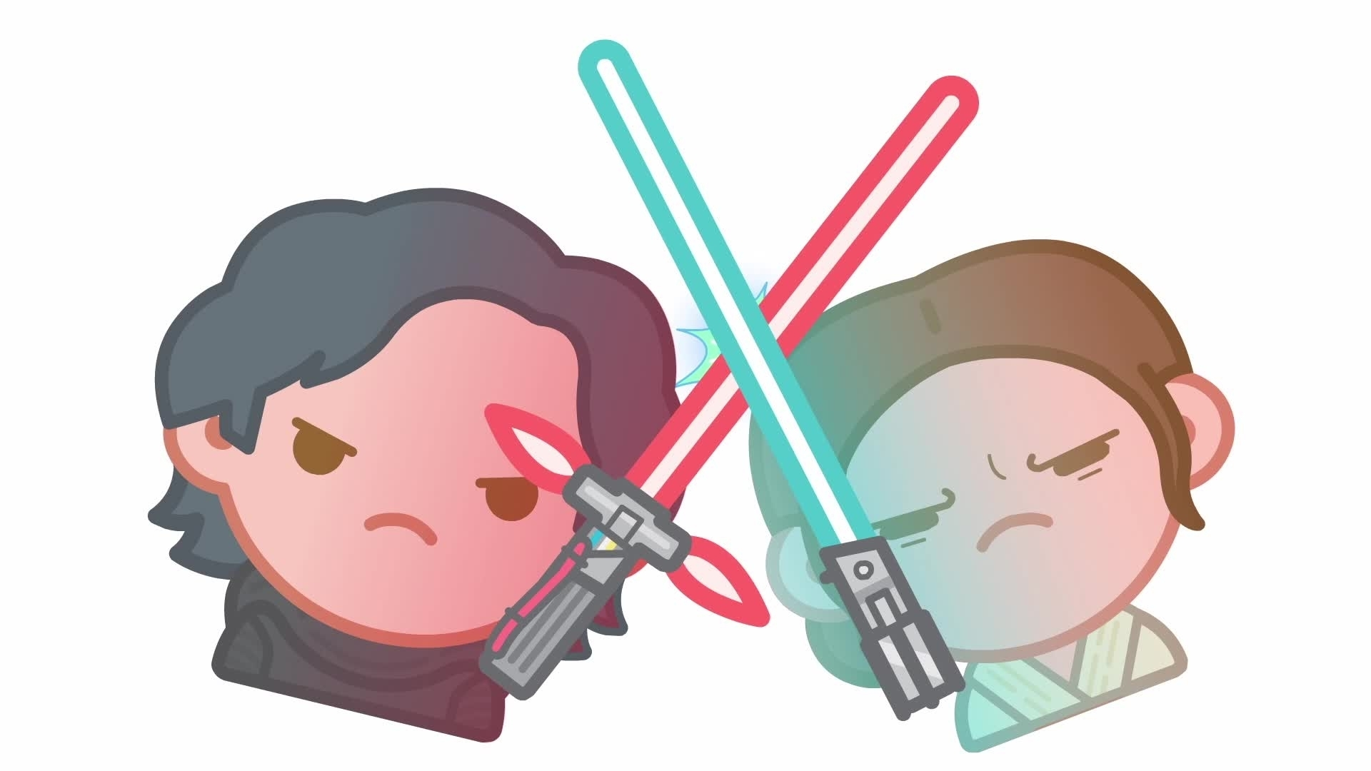 Star Wars: The Force Awakens verteld met emoji