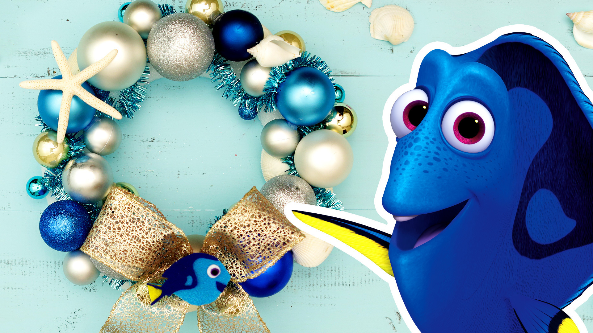 Disney Family: Finding Dory Holiday Wreath