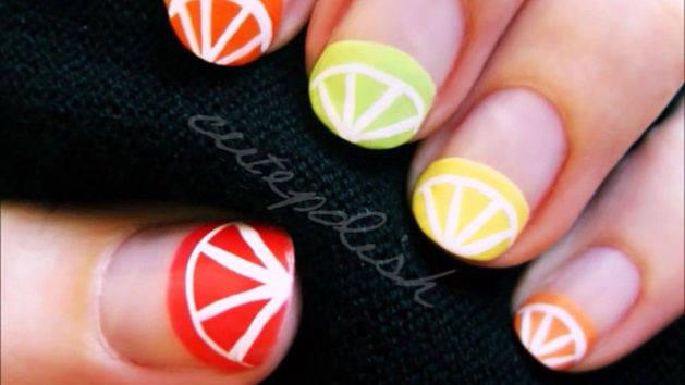 Summer Citrus Fruit Nail Art