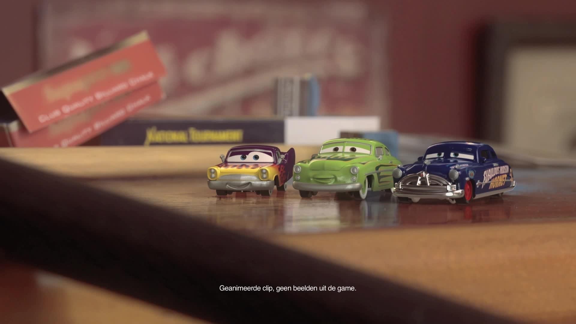 Cars Daredevil Garage - Testrit op de Pooltafel