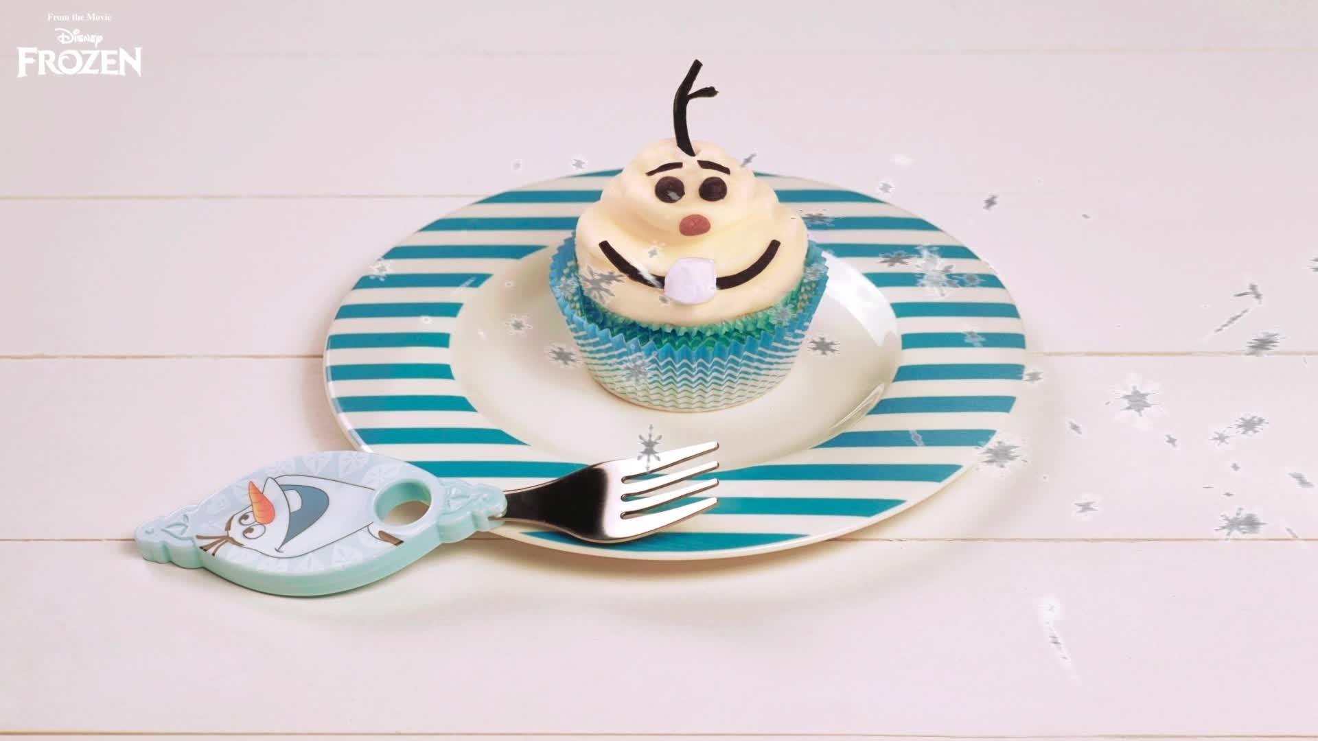 Cupcake in stile Olaf
