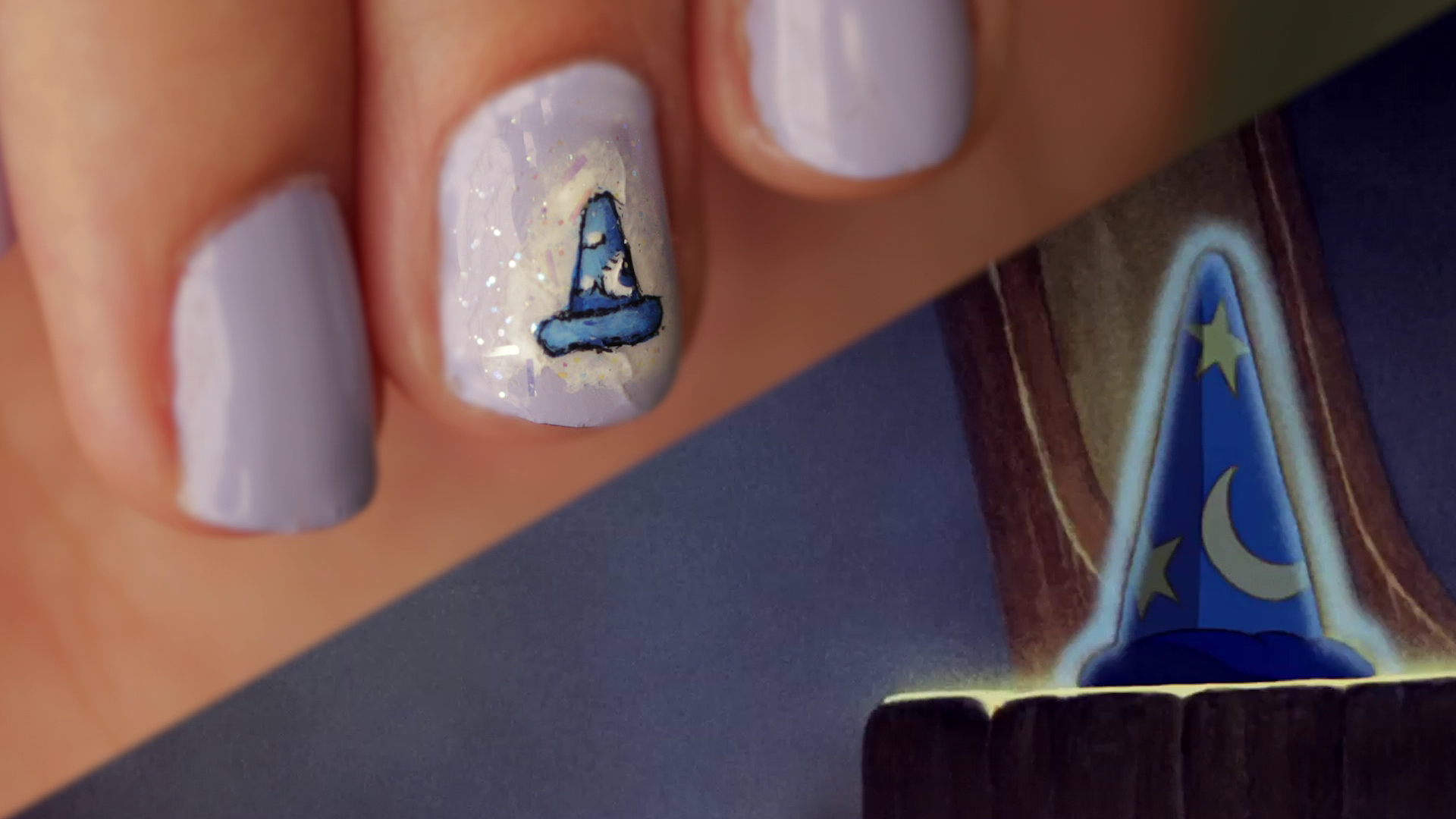 Sorcerer Mickey Hat Nail Art   Disney Style