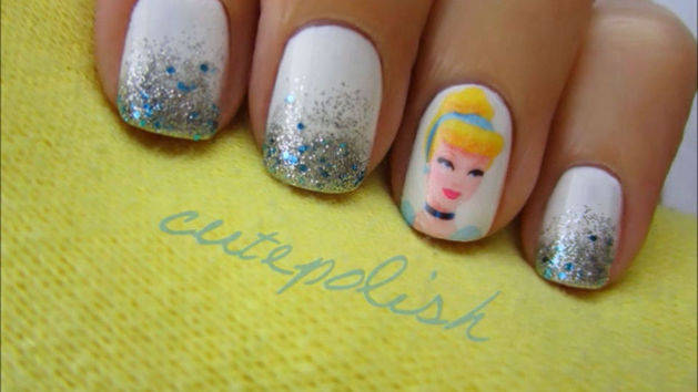 Cinderella Nail Design Tutorial - A CutePolish Disney Exclusive