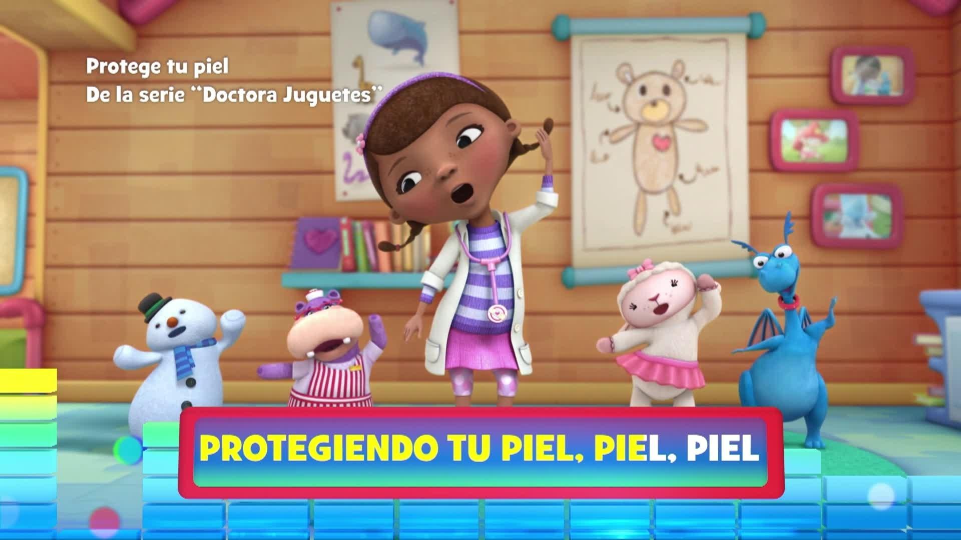 """Protege tu piel. De la serie: """"Doctora Juguetes"""""""
