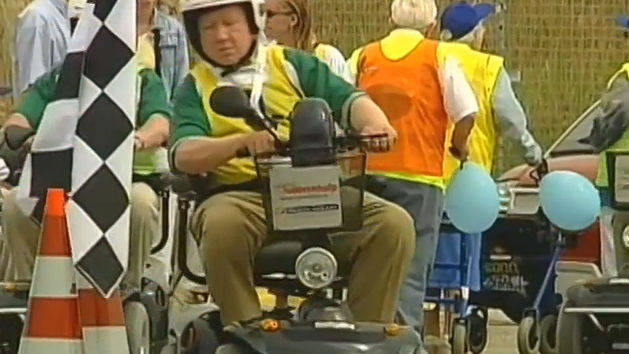 Geriatric Electric Scooter Race