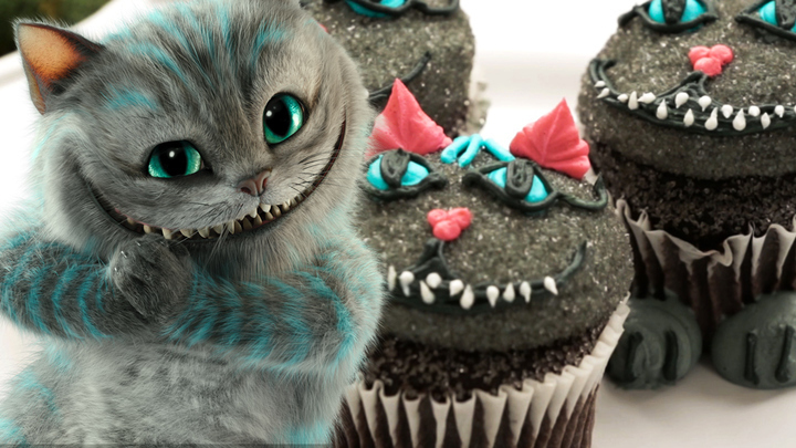 Cheshire Cat Cupcakes | Dishes by Disney