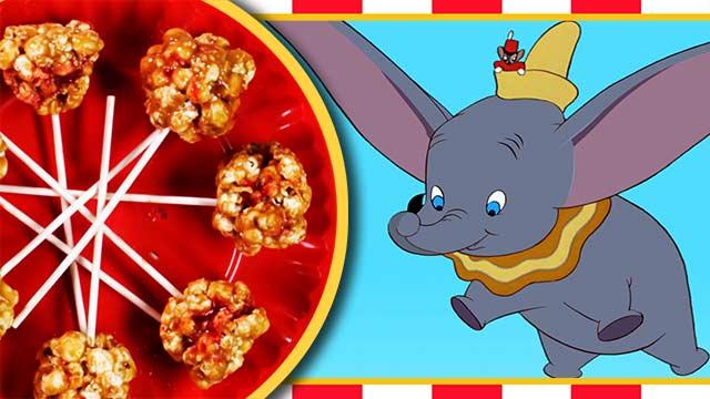 Dumbo's Peanut Butter & Jelly Popcorn Balls