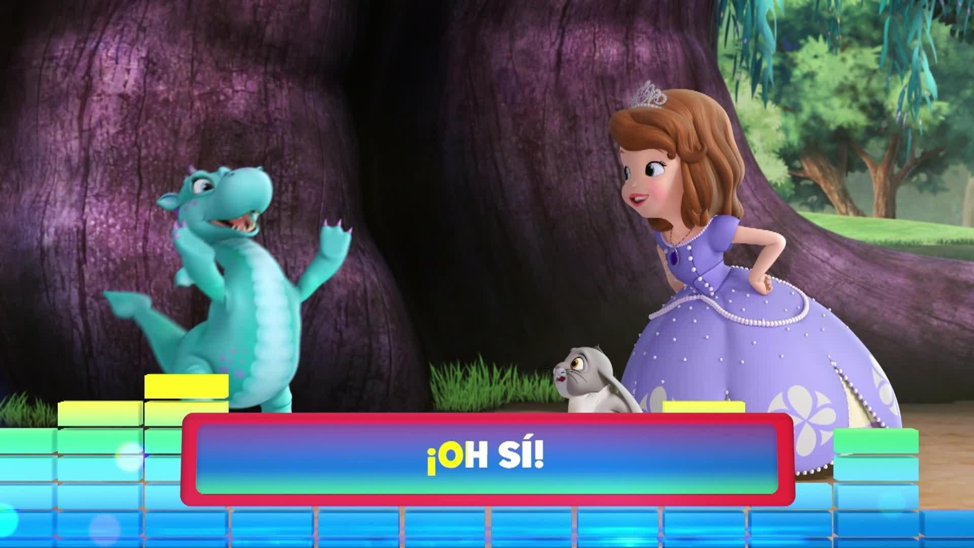 """Cantar muy alto. De la serie:""""La princesa Sofía"""""""