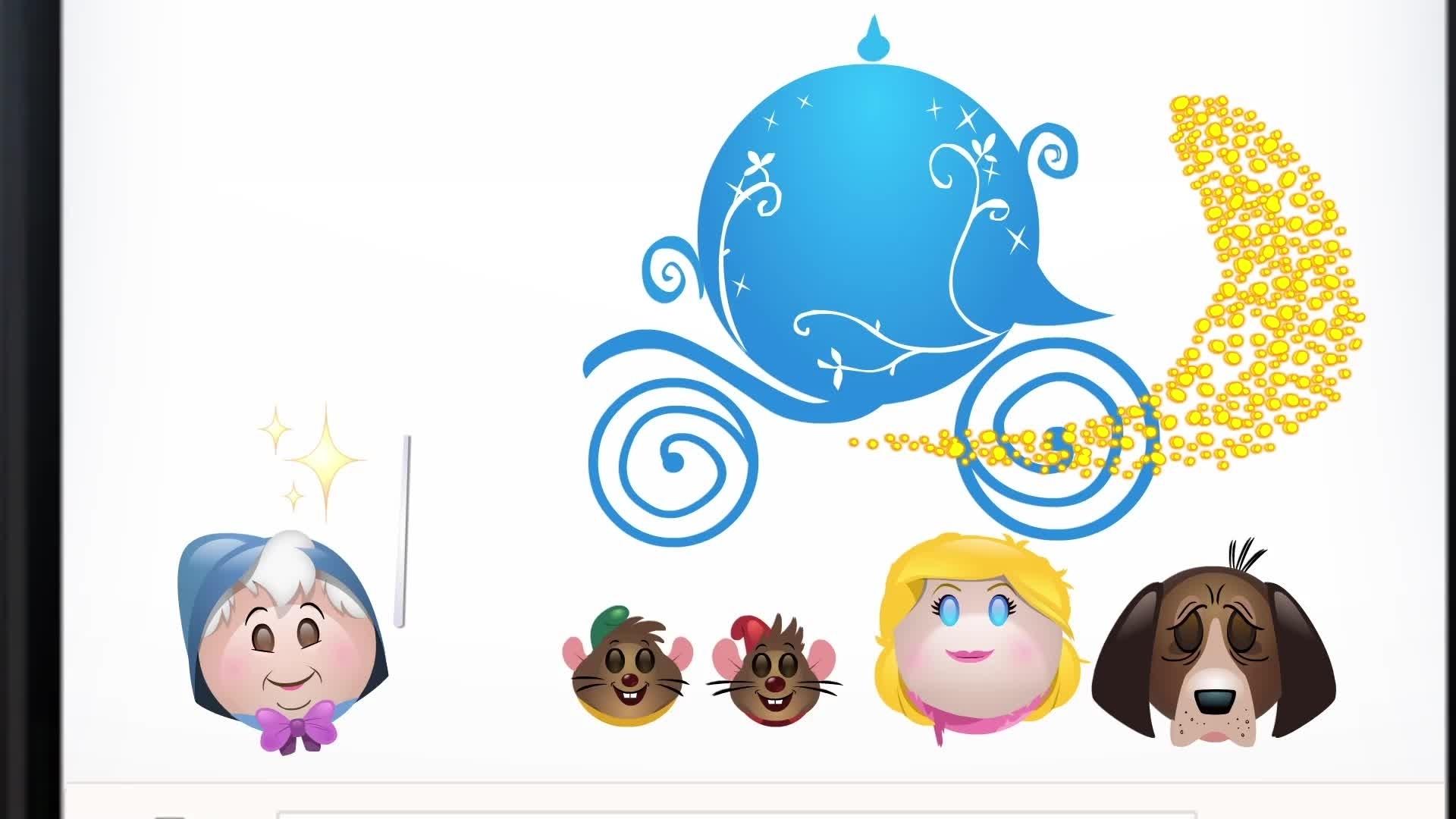 Askungen berättad med emoji