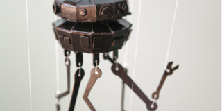 Star Wars Day Crafts: Imperial Probe Droid Marionette