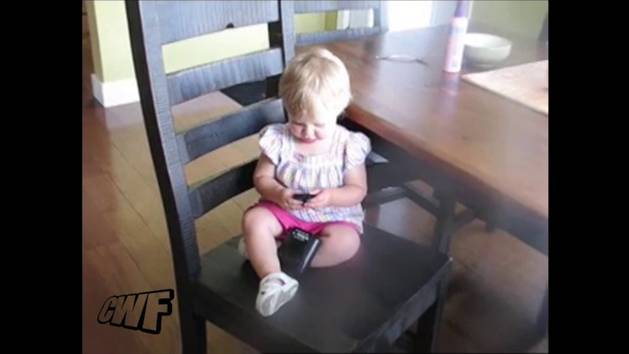 Baby Plays with Farting Sound Machine