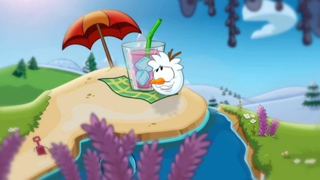 """In Summer"" from Frozen - Club Penguin"