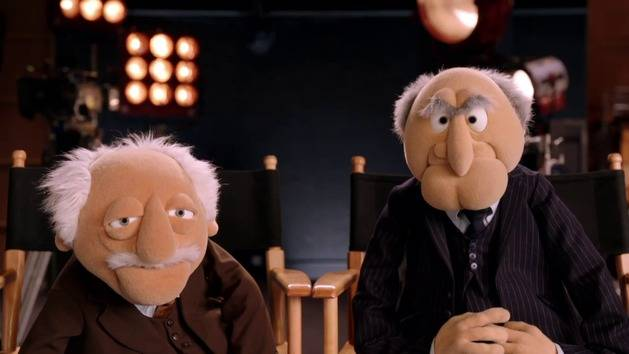 Waldorf statler muppets most wanted featurette for Balcony muppets