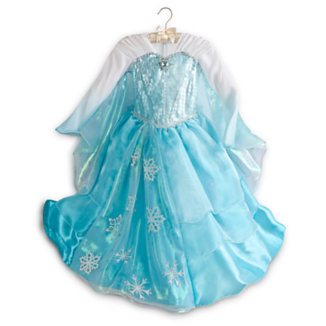 Elsa Deluxe Costume for Girls - Frozen