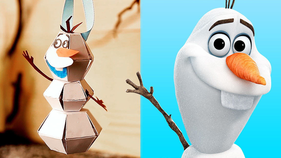 Olaf Pop-Up Paper Craft