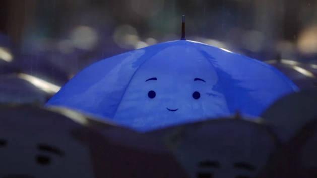 Blue Umbrella Opening Clip - Monsters University Short