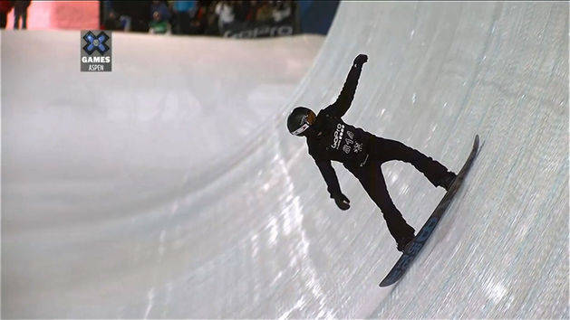 Men's Snowboard Superpipe Final -   Shaun White Run 1