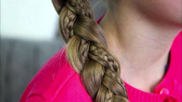 Simple Braid with Micro Braids Accents