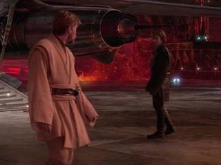 Anakin Confronts Obi-Wan