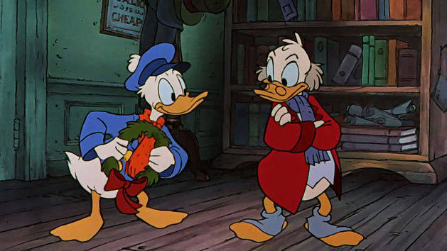 Fred Visits Scrooge - Mickey's Christmas Carol Clip