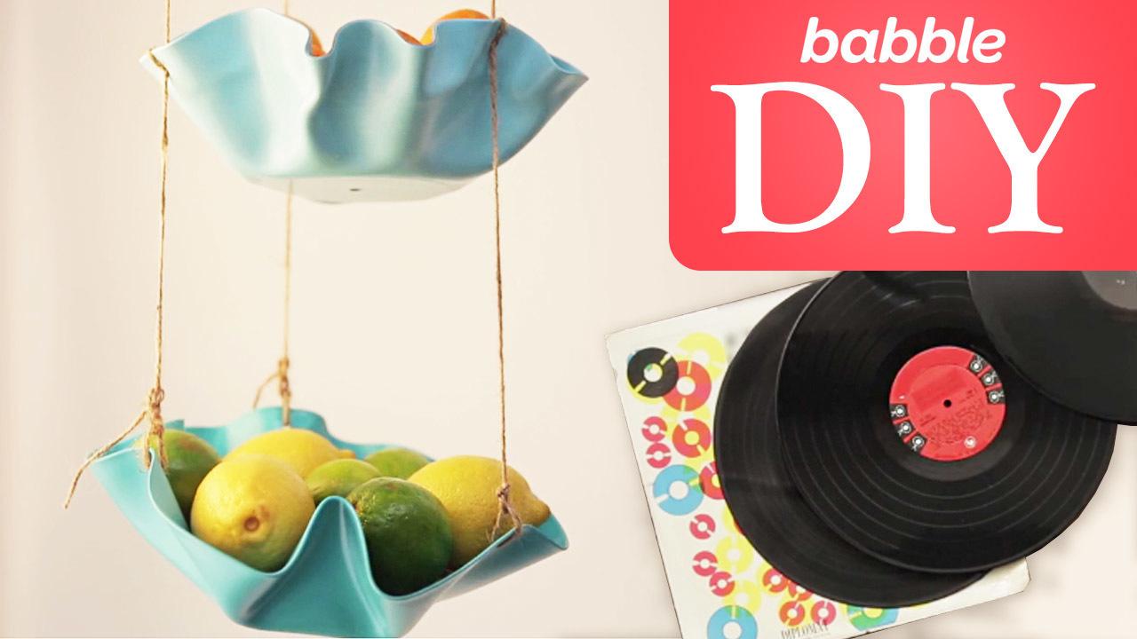 Babble: DIY Vinyl Record Hanging Baskets