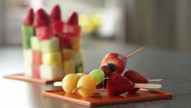 Fruit Cubes and Kebabs