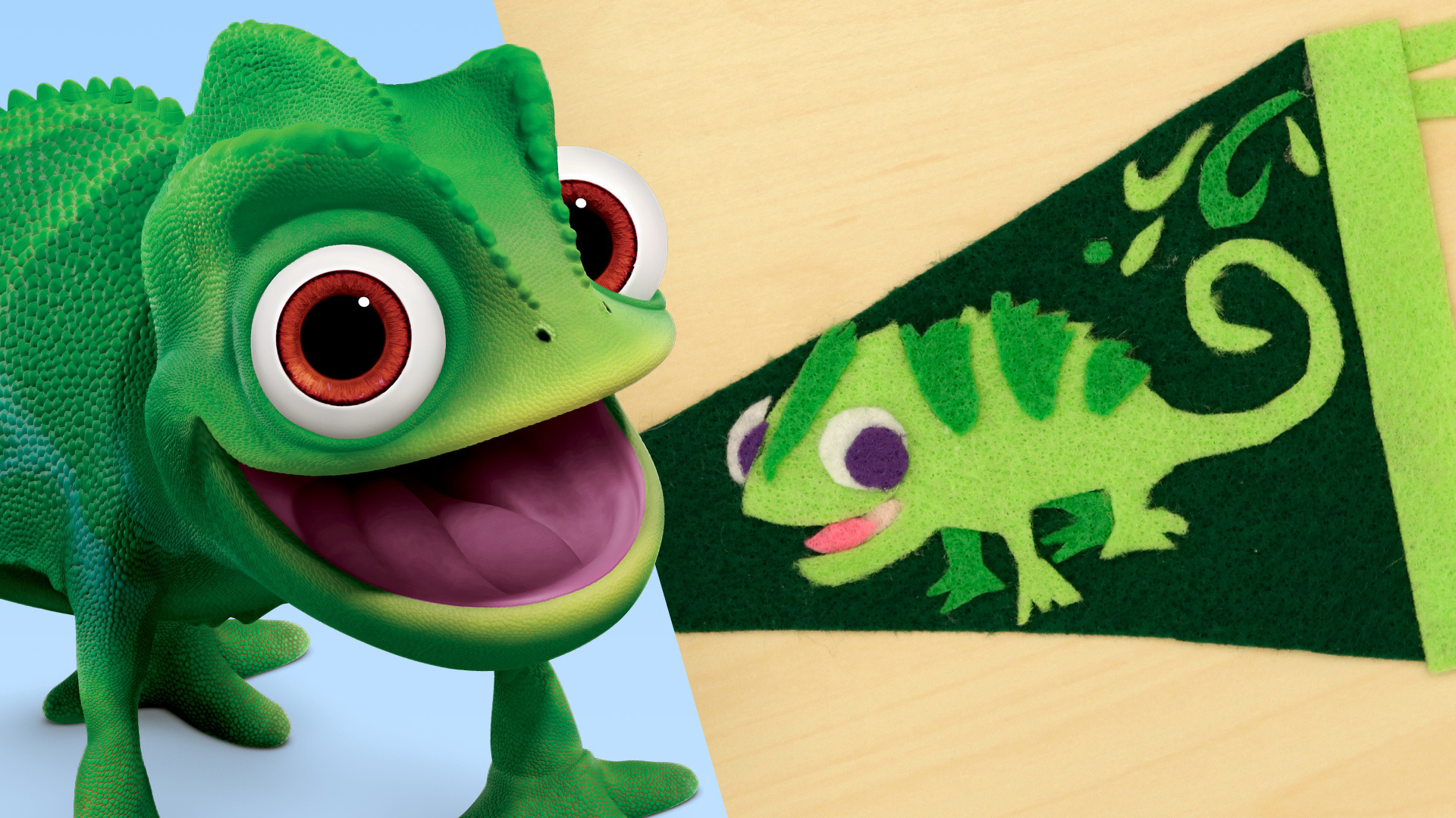 Disney Family: Pascal Pennant Flag