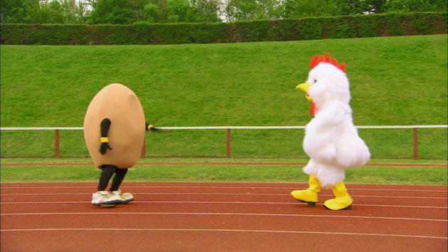 Chicken and Egg Race