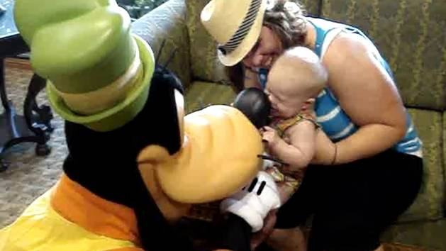 Goofy and a Baby