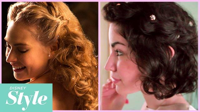 Cinderella - Inspired Half Updo For Short Hair