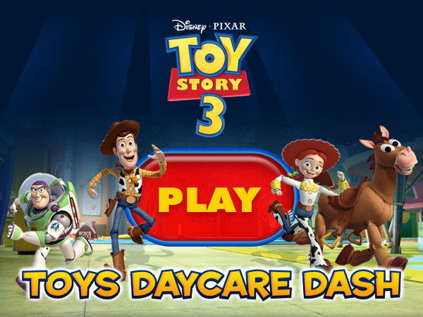 Toy Story 3 Day Care Dash : Login logout