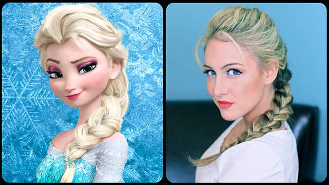Elsa's Textured French Braid - A Cutegirlshairstyles Disney Exclusive