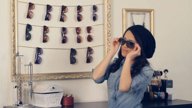 DIY Sunglass Display Frame and BONUS tutorial!