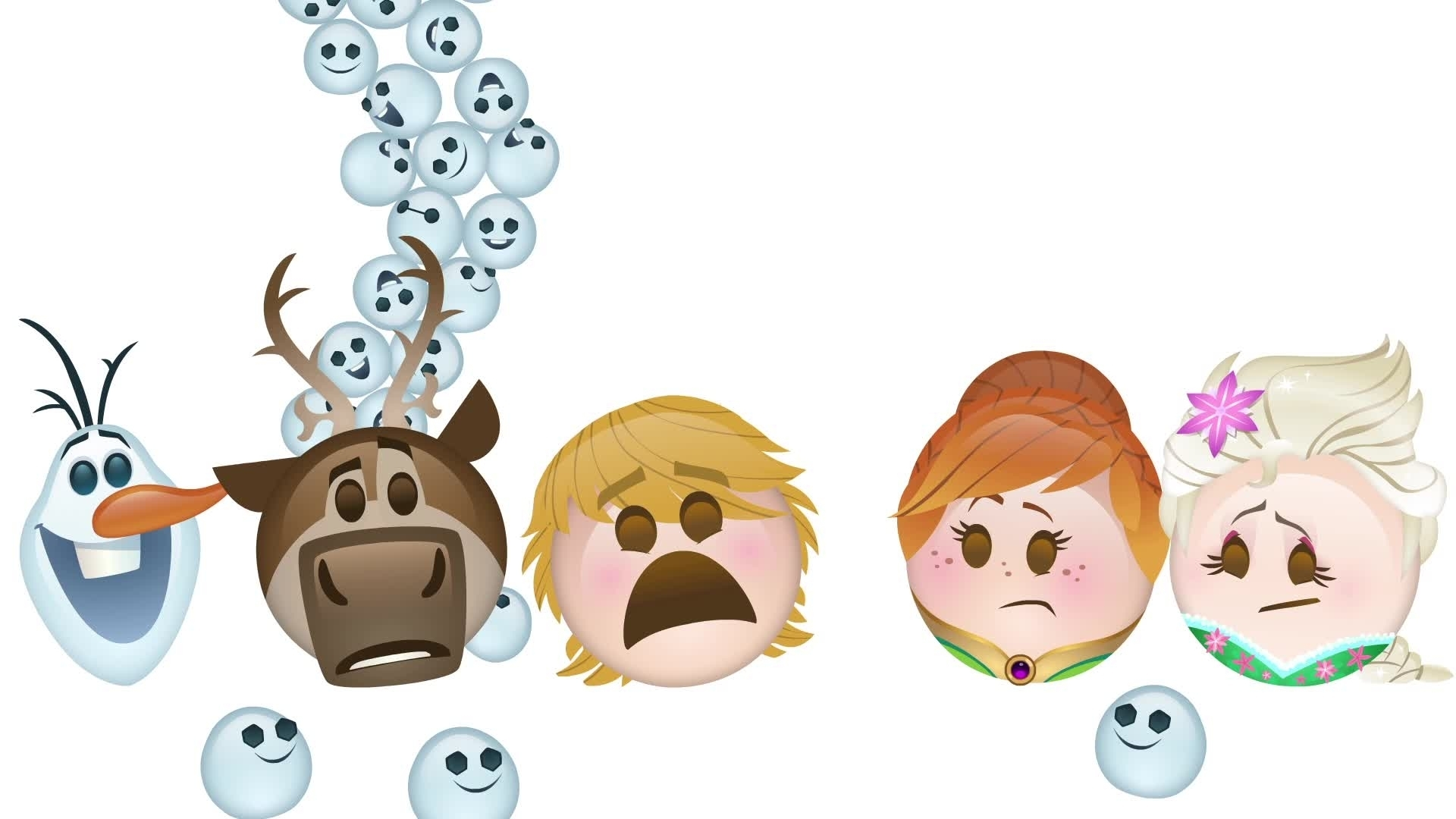 Festa Frozen Contada por Emojis