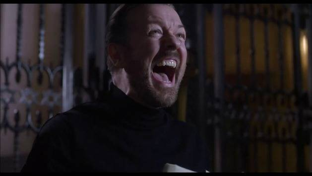 Ricky Gervais Bloopers - Muppets Most Wanted BTS