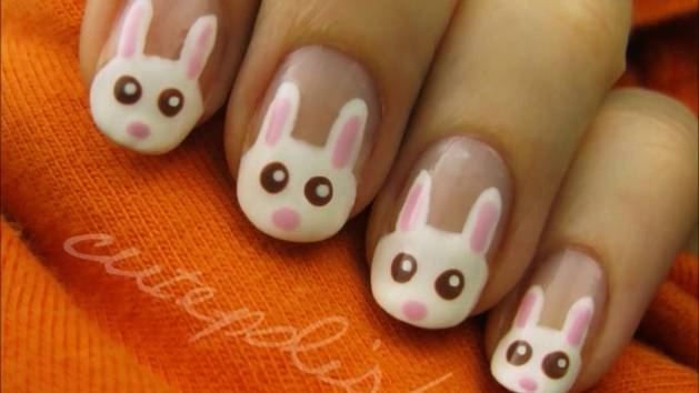 Adorable Spring Bunnies Nail Art