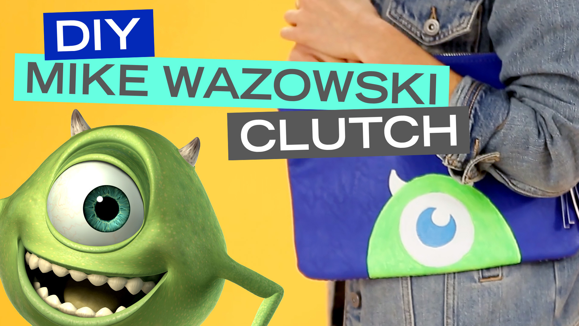 Monsters, Inc. Mike Wazowski DIY Clutch  | Disney Style
