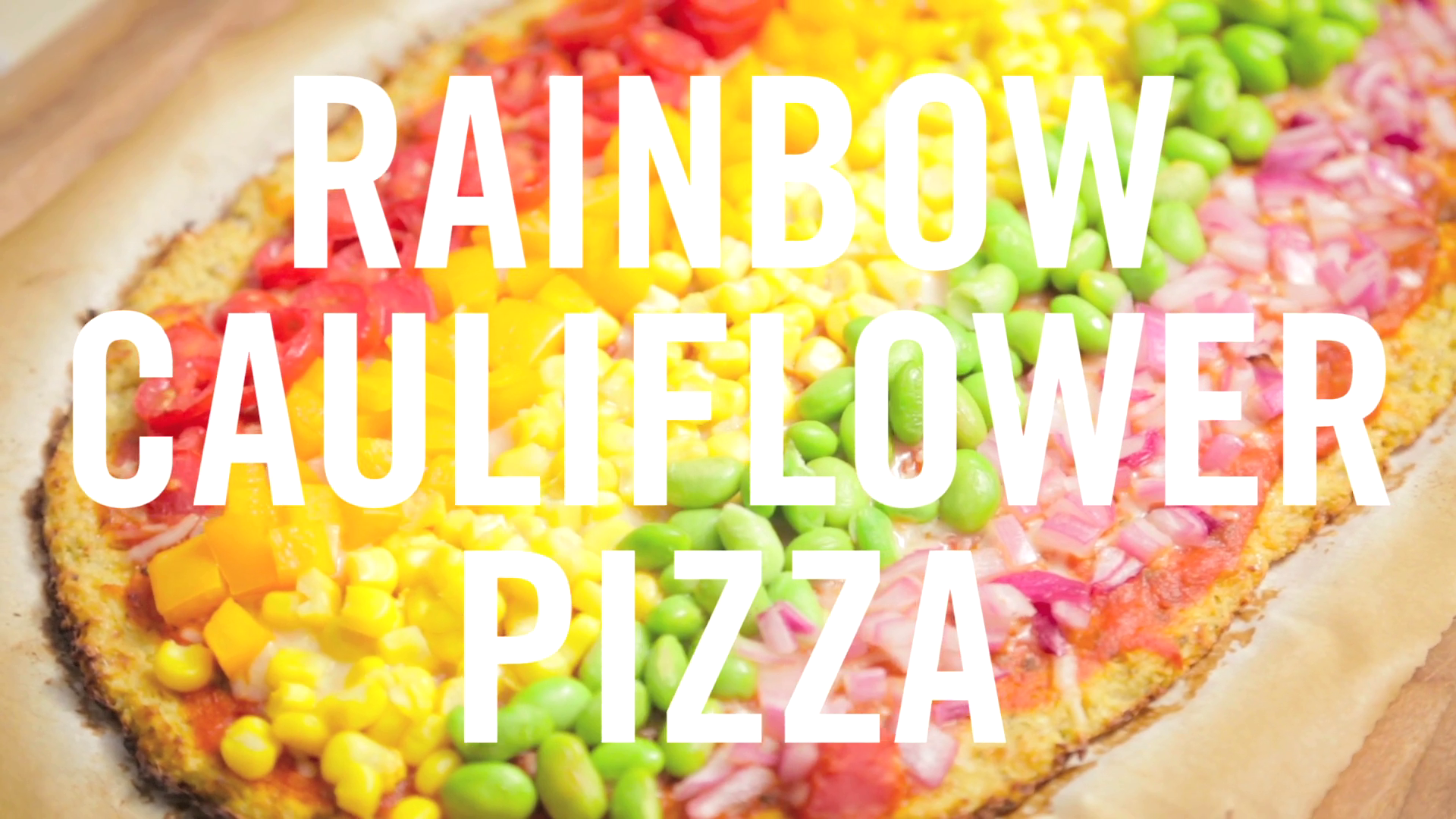 Rainbow Cauliflower Pizza | Babble Eats