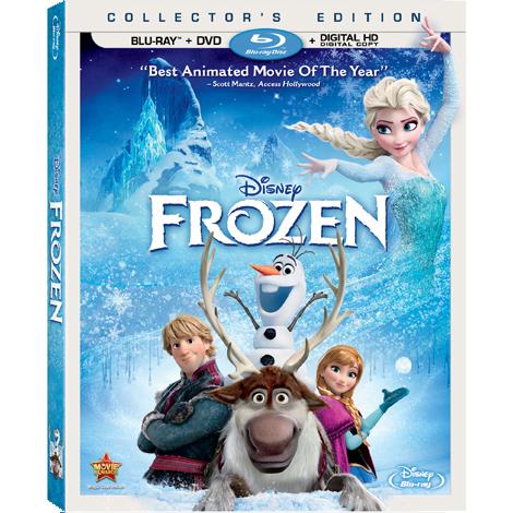 frozen blu ray dvd and digital hd disney frozen
