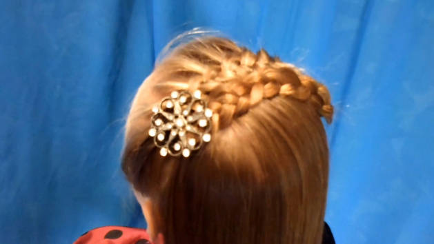 Folded Braid Headband Hairstyle