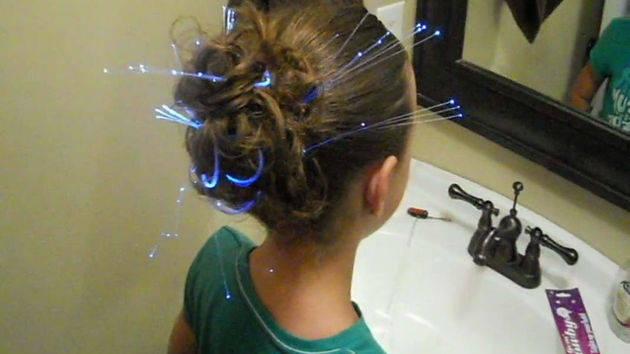 Festive Hairstyle - Messy Glow Bun