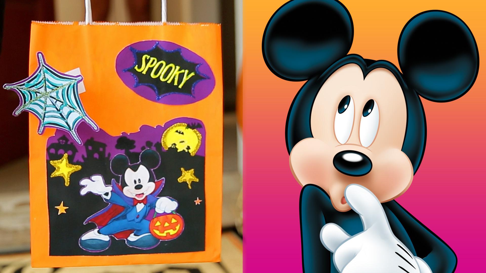 Mickey and Friends Halloween Treat Bags | Disney DIY