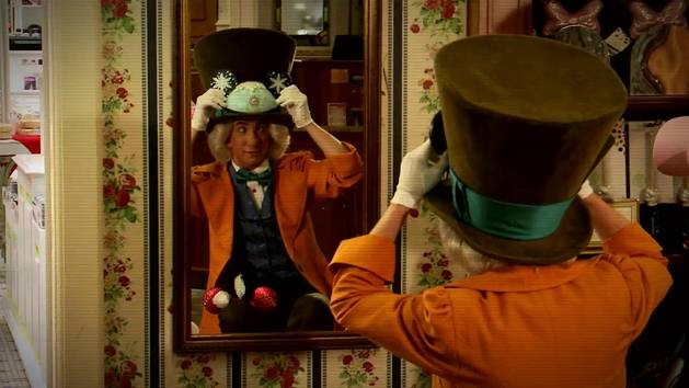 Mad Hatter Flips His Lid Trying On His Disney Side