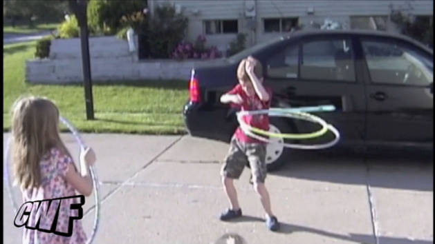 Kid is a Hula Hoop Master